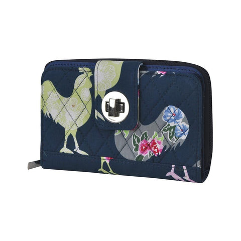 Rooster NGIL Quilted Twist Lock Wallet