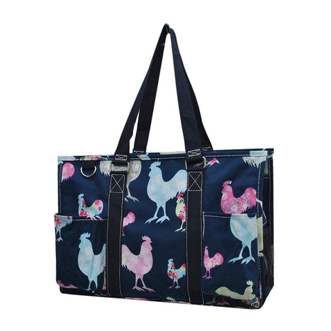 Rooster NGIL Zippered Caddy Organizer Tote Bag