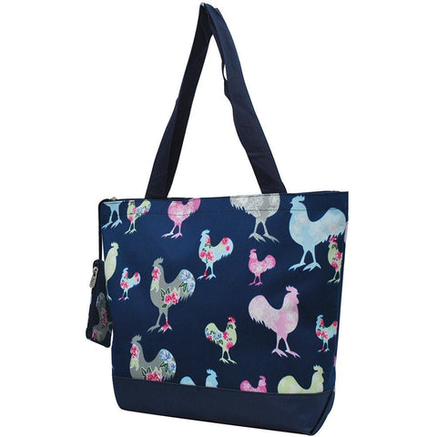 Tote for women zipper, monogram tote bags in bulk, tote bags, monogram bags totes, monogram tote for women, monogram NGIL Brand, monogram travel accessories, navy tote bag, navy rooster tote bag, monogram tote for women zipper, ngil utility tote.