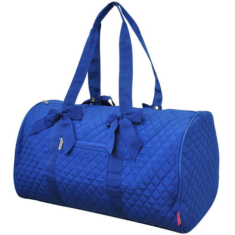 Royal Blue NGIL Quilted Large Duffle Bag
