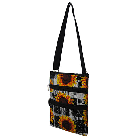 Buffalo Plaid with Sunflower NGIL Messenger Hipster Bag