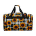 "Buffalo Plaid with Sunflower NGIL Canvas 20"" Duffle Bag"