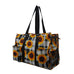 Buffalo Plaid with Sunflower NGIL Zippered Caddy Organizer Tote Bag