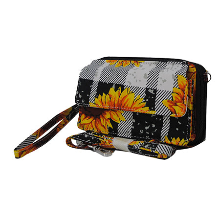 Buffalo Plaid with Sunflower NGIL Canvas All in One Wallet