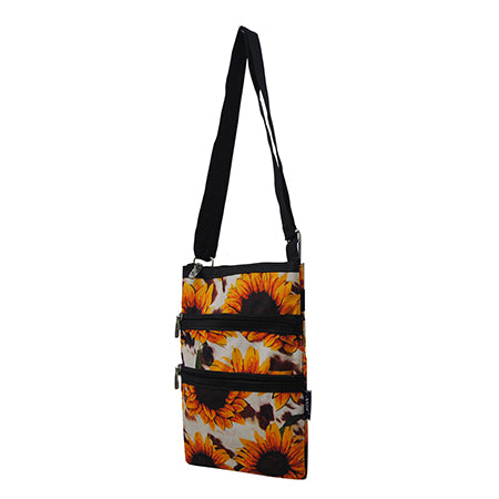 Cow Print with Sunflower NGIL Messenger Hipster Bag