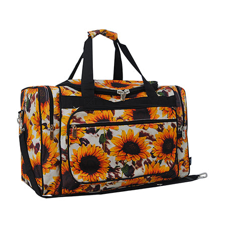 "Cow with Sunflower NGIL Canvas 20"" Duffle Bag"