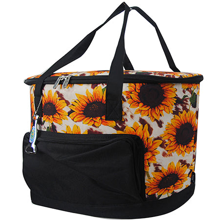 Cow Print with Sunflower NGIL Cooler Bag