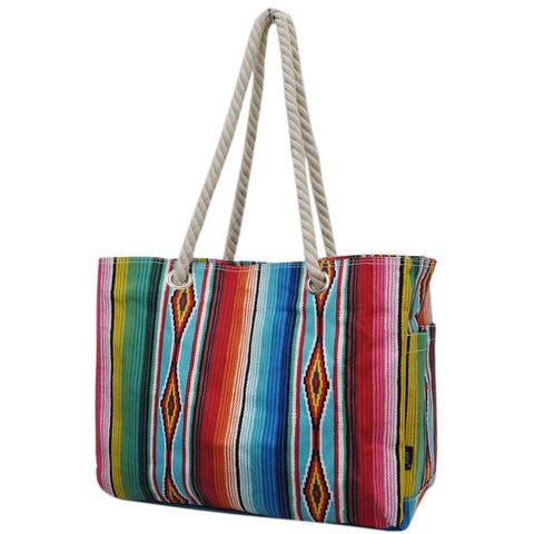 Serape NGIL Large Beach Tote Bag With Rope Handles