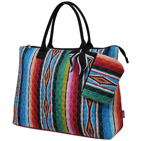 Serape NGIL Quilted Overnight Tote Bag