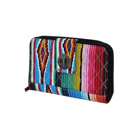 Serape NGIL Quilted Twist Lock Wallet