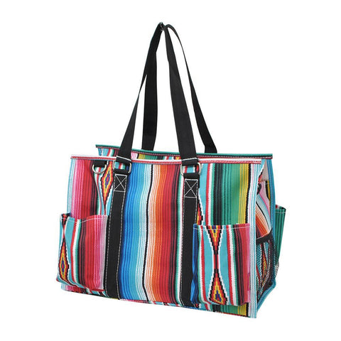 Overnight bag, monogram gifts for her, monogram tote bag for nurse, personalized accessories bag, gifts for nurse wholesale, personalized tote for women, teacher tote bag women, personalized gifts for her, NGIL Brand, best teacher gift bag, teacher gifts end of year, serape theme, rainbow bag.
