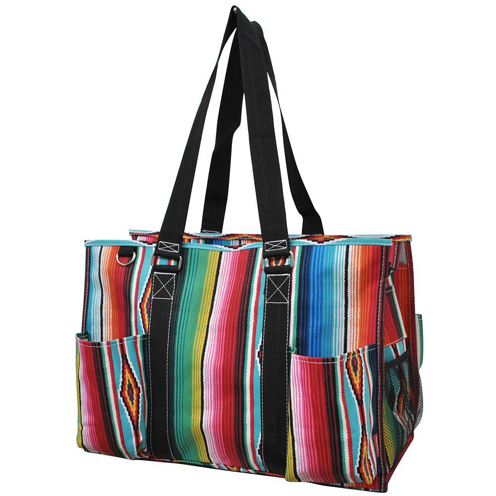 Zippered Caddy, monogramable bags, personalized tote teacher, personalized tote bag for her, nurse tote bag with zipper, Student nurse tote bag, student nurse bag, nurse bags and accessories, student nurse gift bags, serape print tote, large serape tote.