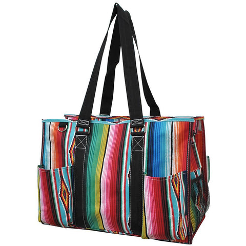 Serape NGIL Zippered Caddy Large Organizer Tote Bag