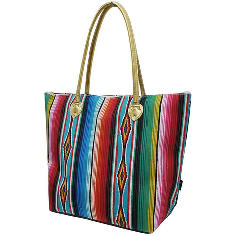 Overnight bag, monogram gifts for her, cute serape totes, cute serape totes, personalized accessories bag, personalized tote for women, personalized gifts for her, NGIL Brand, ngil tote, tote bag supplier, wholesale tote bags bulk,