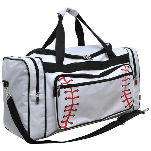 "Baseball White NGIL Canvas 23"" Duffle Bag"