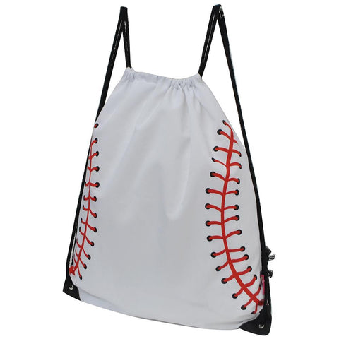 Baseball White NGIL Canvas Drawstring Backpack