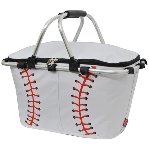 Baseball White NGIL Insulated Market Basket