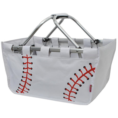 Baseball White NGIL Canvas, Shopping, Market, Picnic Basket