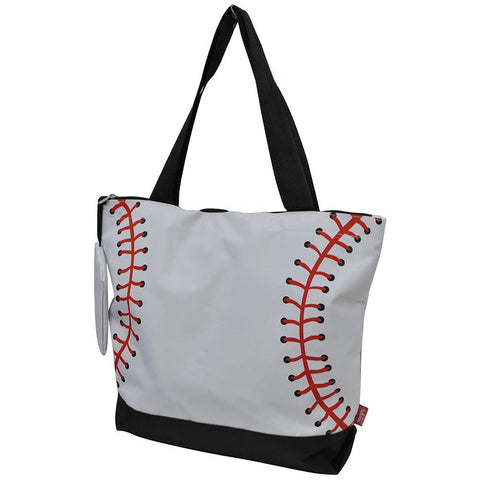 Overnight bag, monogram gifts for her, baseball canvas tote bag, baseball print tote bag, baseball themed tote bag, baseball mom tote bag, personalized accessories bag, personalized tote for women, personalized gifts for her, NGIL Brand, ngil tote, tote bag supplier, wholesale tote bags bulk.