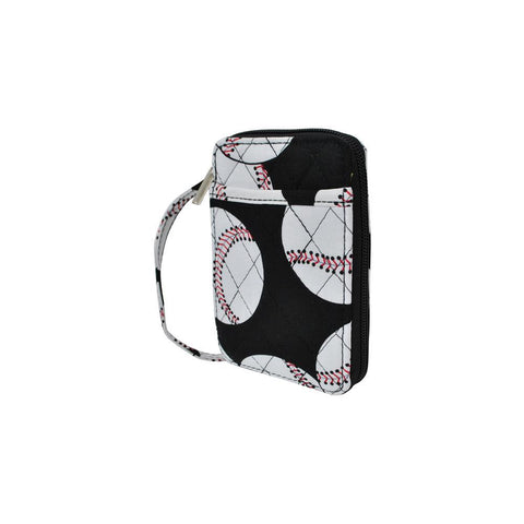 Baseball NGIL Quilted Wristlet Wallet