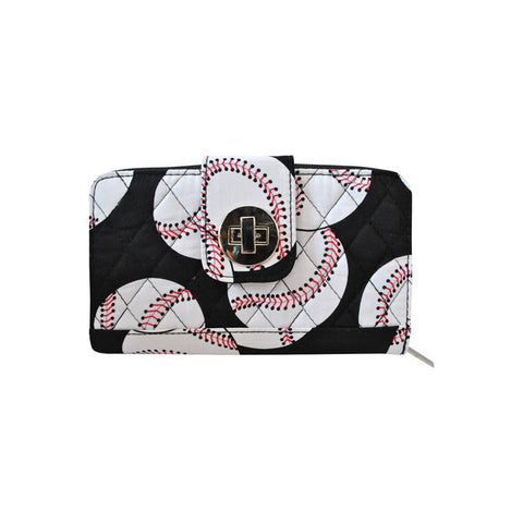 Baseball NGIL Quilted Twist Lock Wallet