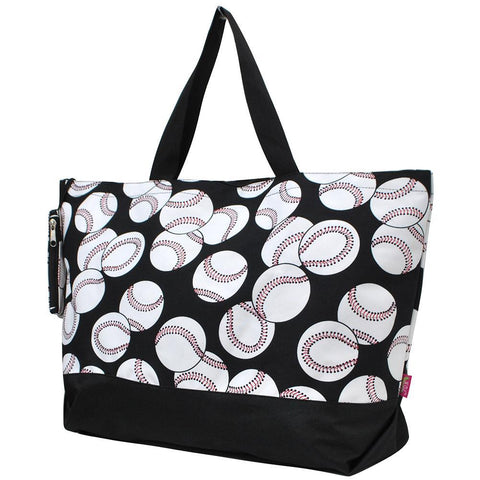 Monogrammed Zippered Tote Bag, baseball mom tote bag, baseball utility tote, baseball canvas tote, monogram gifts for her, Monogram bags and tote, Gifts for her, monogram gifts, NGIL Brand, custom tote bags with zipper, wholesale tote bags with zipper, nice tote bags for school.