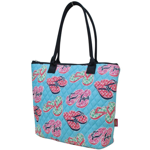 Beach Flip Flop NGIL Quilted Tote Bag