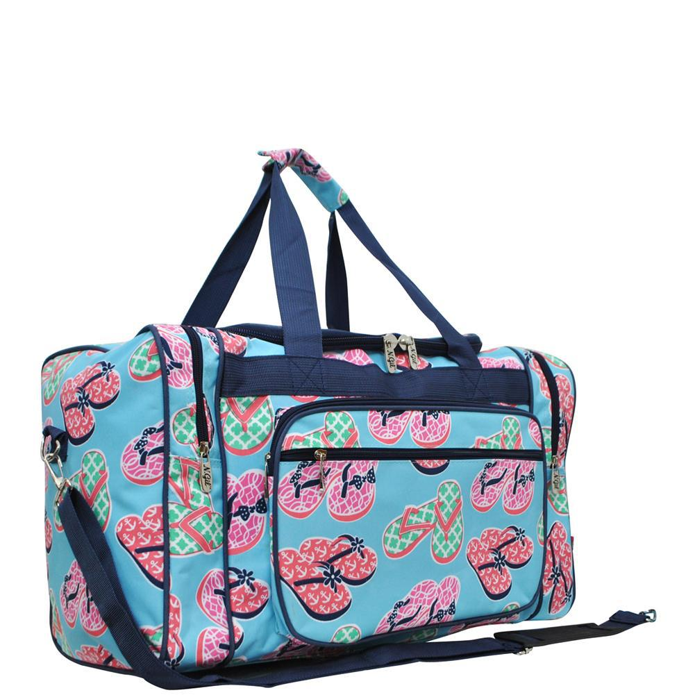"Beach Flip Flop NGIL Canvas 20"" Duffle Bag"