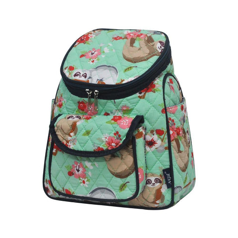Happy Sloth NGIL Quilted Mini Backpack