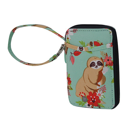 Happy Sloth NGIL Canvas Wristlet Wallet