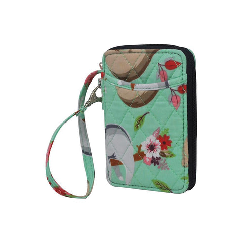 Happy Sloth NGIL Quilted Wristlet Wallet
