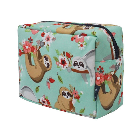 Cosmetic bags in bulk, best women's makeup bag, makeup pouch for school, makeup bag gifts for women, makeup organizer case, cosmetic bag for bride, travel bags gift, sloth cosmetic bag, sloth travel bag