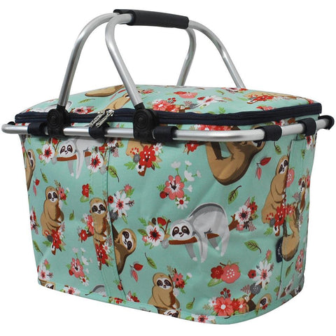 Happy Sloth NGIL Insulated Market Basket