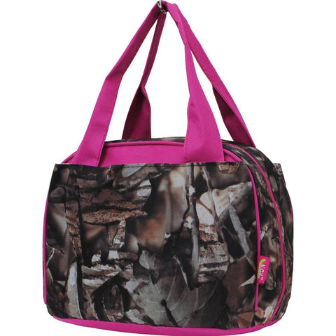 BnB Natural Camo Hot Pink NGIL Insulated Lunch Bag