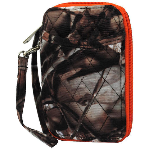 BnB Natural Camo Orange NGIL Quilted Wristlet Wallet