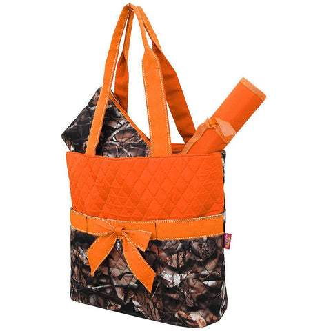 BnB Natural Camo Orange NGIL Quilted 3pcs Diaper Bag