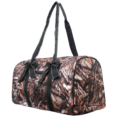 BnB Natural Camo Black NGIL Quilted Large Duffle Bag