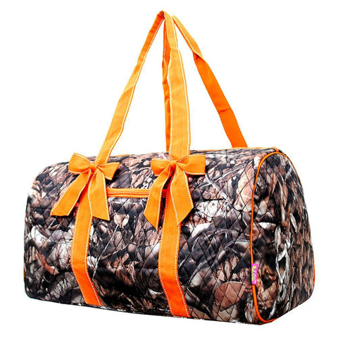 BnB Natural Camo Orange NGIL Quilted Large Duffle Bag