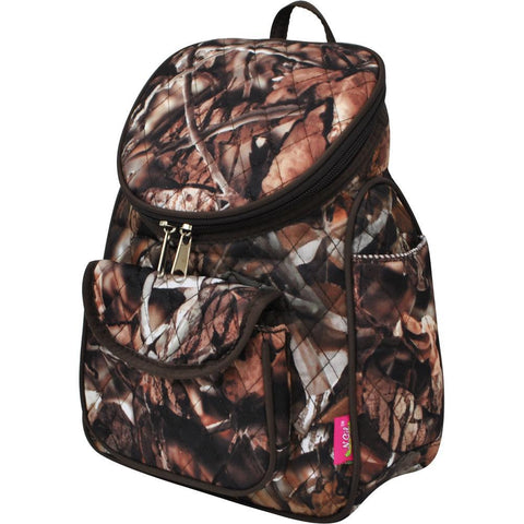 BnB Natural Camo Brown NGIL Quilted Mini Backpack