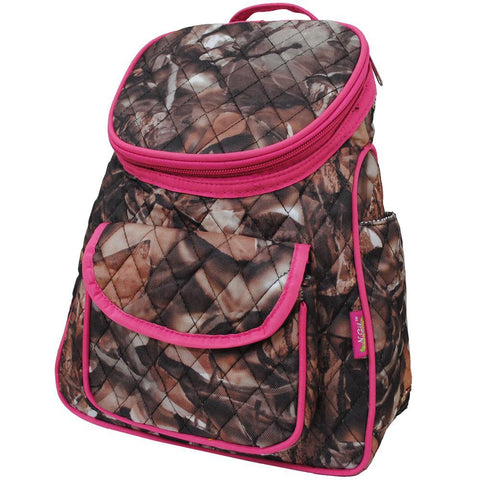BnB Natural Camo Hot Pink NGIL Quilted Mini Backpack