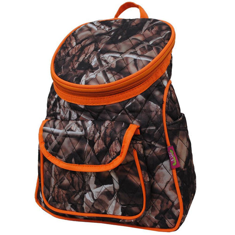 BnB Natural Camo Orange NGIL Quilted Mini Backpack