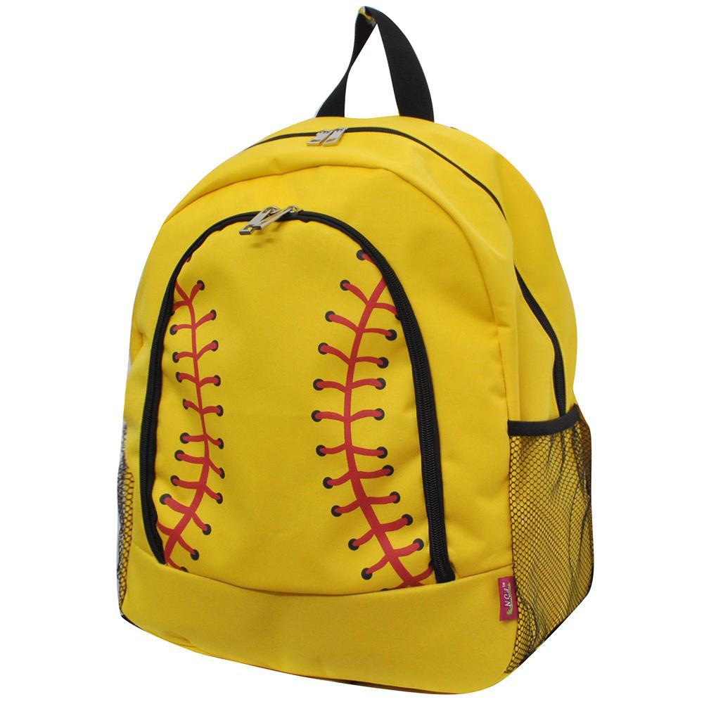 Softball Yellow NGIL Canvas School Backpack