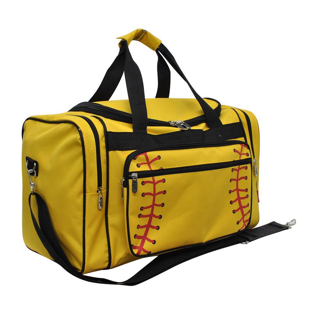 "Softball Yellow NGIL Canvas 20"" Duffle Bag"