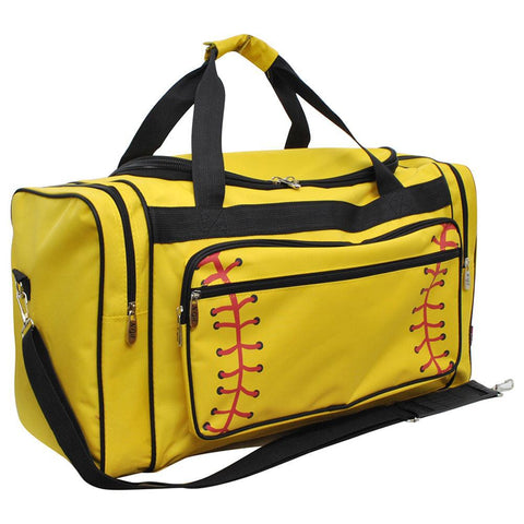 "Softball Yellow NGIL Canvas 23"" Duffle Bag"