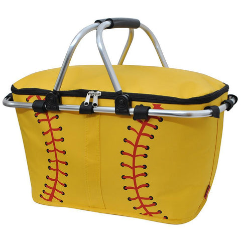 Softball Yellow NGIL Insulated Market Basket