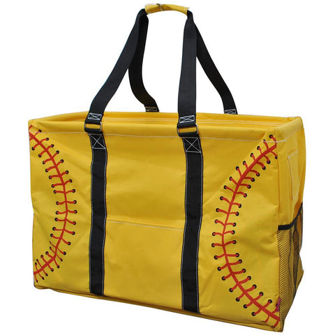 Softball Yellow NGIL Mega Shopping Utility Tote Bag