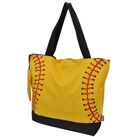 Softball Yellow NGIL Canvas Tote Bag