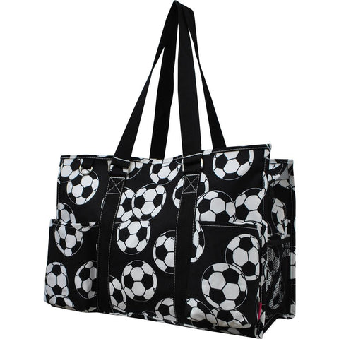 Soccer NGIL Zippered Caddy Large Organizer Tote Bag