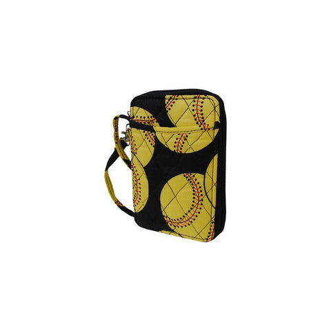 Softball NGIL Quilted Wristlet Wallet