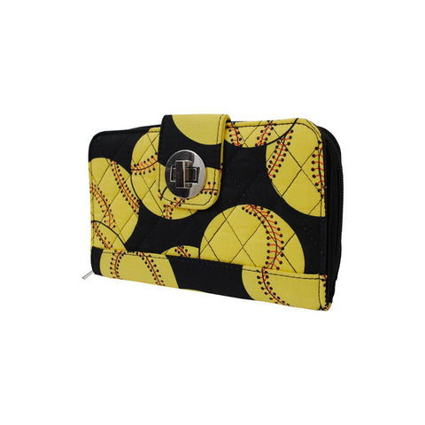 Softball NGIL Quilted Twist Lock Wallet